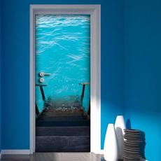 doormural, Swimming, art, Home Decor