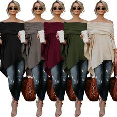 Fashion, off the shoulder top, loose top, Coat