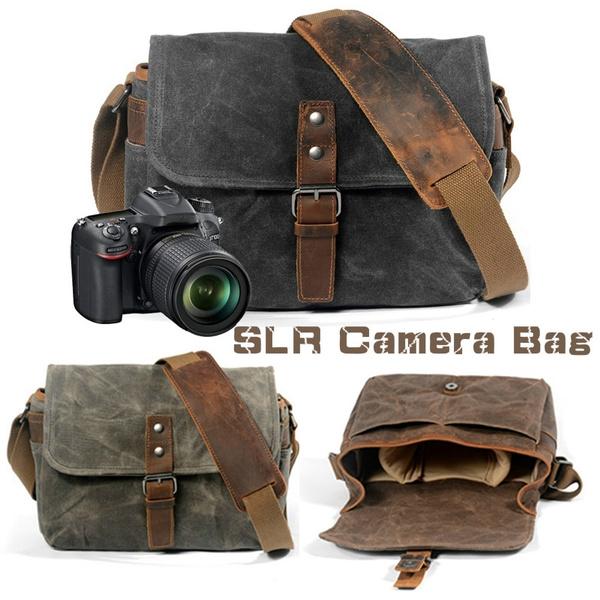 Color : Sliver Gray He-lanshangmaobu Fashion Camera case DSLR Camera Bag Waterproof Backpack Shoulder Laptop Digital Camera /& Lens Photograph Luggage Bags case for Canon Nikon