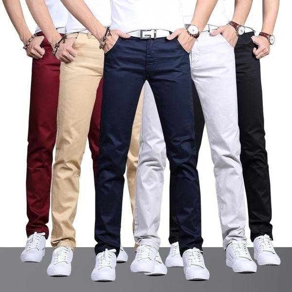 Plus Size, Cotton, Casual pants, men trousers