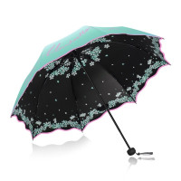 Beautiful Women Lace Umbrella Anti Uv Black Coating Parasol 3 Folding Sun Rain Umbrella Adult Princess Lace Umbrella,Purple Lace Umbrella