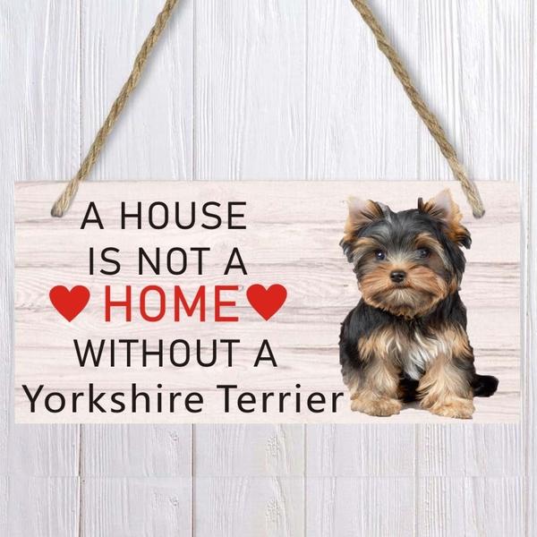 yorkshireterrier, doorsign, Home, Home & Living