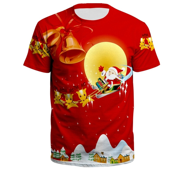 Plus Size, Christmas, Sleeve, Santa Claus
