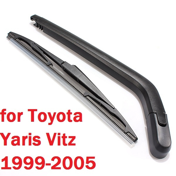 Car Windshield Wiper Blades Rear Wiper Arm Blade Car Rear Window Windshield Windscreen Wiper Arm and Blade for Toyota Yaris 1995-2005 Windshield Wipers Car Accessories