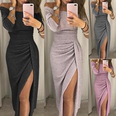 Fashion, high waist, one-shoulder, Dress