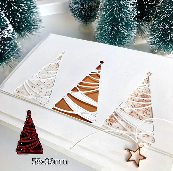 Tree, stencil, Christmas, scrapbookingamppapercraft