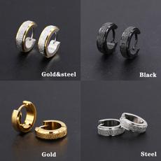 Mens Earrings, Steel, titanium steel, Men Earrings