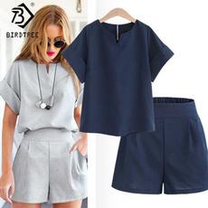 short sleeves, V-neck, Shorts, Costume