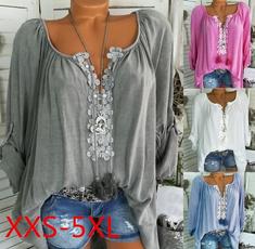 blouse, Plus Size, Lace, Sleeve