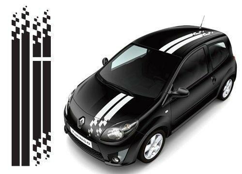 2 Stickers Gt Checkerboard Renault Sport Ref 125 Racing Tuning Sticker Twingo