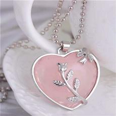 Heart, Chain Necklace, quartz, Jewelry