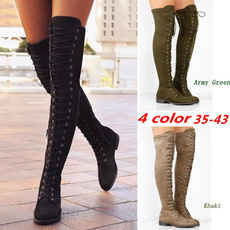 ankle boots, Knee High Boots, Fashion, waterproofbootswomen