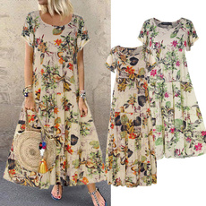 Summer, damenkleid, short sleeve dress, Necks