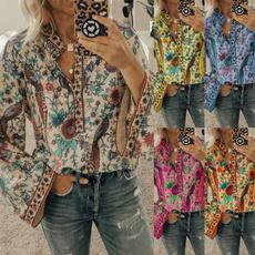 Summer, Plus Size, Shirt, Long Sleeve