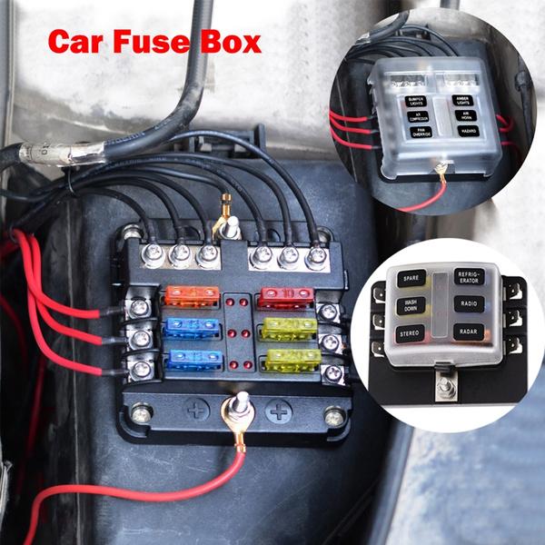 12-30V Car Marine Fuse Box Holder With LED Indicator Durable Car  Modification Fuse Box Base Insert Type PC Terminal Block Set | WishWish
