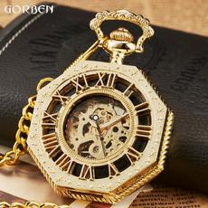 Steel, Pocket, hollowpocketwatch, Chain