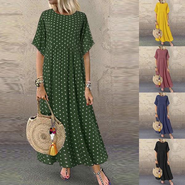 loosedressforwomen, short sleeve dress, long dress, Dress