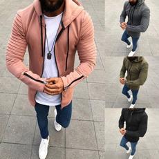 blouse, lapel, Plus Size, hooded