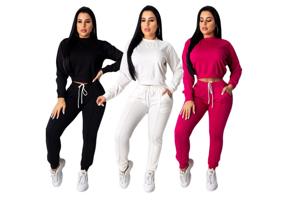 Sport Women SetWhite Casual SetOpen Back /& removable sleeves Extravagant Women SetSpring SetLoose Pants Outfit