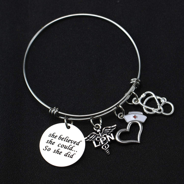 Charm Bracelet, Jewelry, Gifts, Bangle