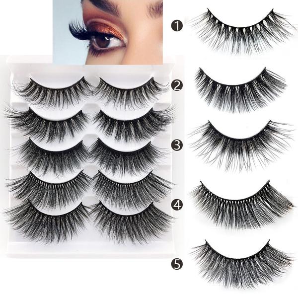 False Eyelashes, 5pair, eyelashesfalse, Beauty