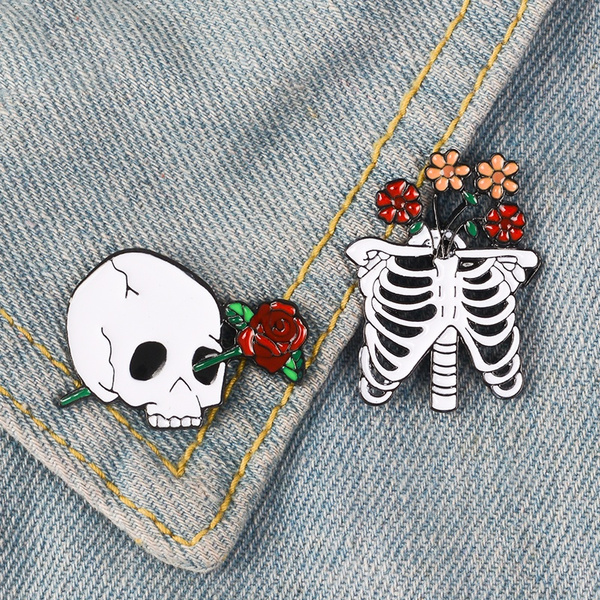 Goth, Flowers, Skeleton, Gifts