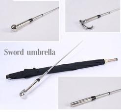 longhandlestraightumbrella, swordumbrella, selfdefenseequipment, sword