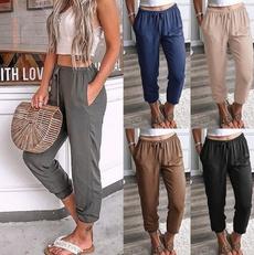 Summer, trousers, high waist, pants