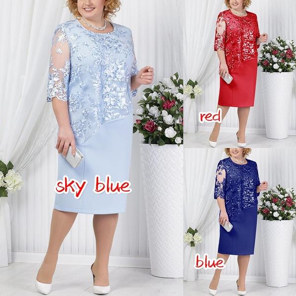 fulldre, Plus Size, Lace, Lace Sexy Dress