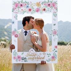 Romantic, paperphotoframe, propsframe, floralweddingphotopropsframe