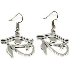 wiccan, antiquesilverearring, Dangle Earring, punk earring