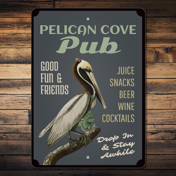 pelican, Decor, room decoration, garageposter