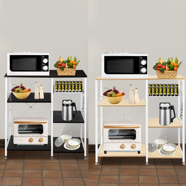 3 Tier Kitchen Baker S Rack Utility Microwave Oven Stand Storage Cart Workstation Shelf 2 Colors Wish