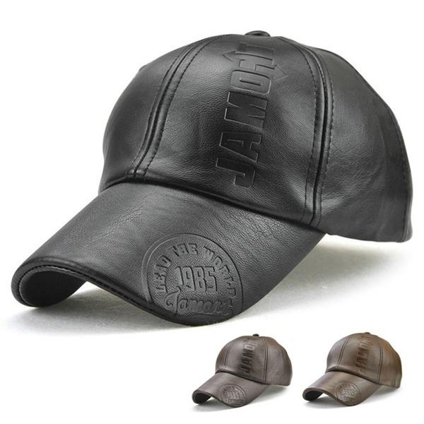 sports cap, leather cap, Winter, men cap