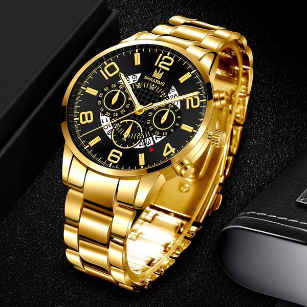 Steel, watchformen, Fashion, chronographwatch