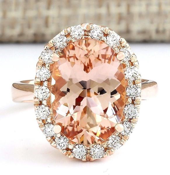 Sterling, DIAMOND, Rose, 925 silver rings