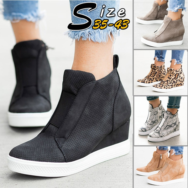 Women's Platform Sneakers Casual Hidden