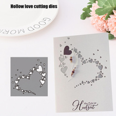 Heart, stencil, Scrapbooking, Hollow-out