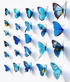 butterfly, Blues, Decor, art