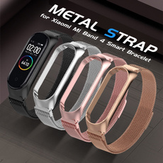 Steel, xiaomimiband4, Wristbands, metalstrapwatch