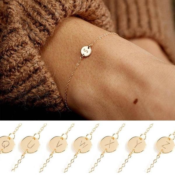Charm Bracelet, Jewelry, gold, Simple