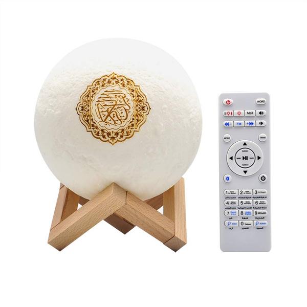 3d Quran Smart Touch Moon Lights Led, Quran Led Lamp Bluetooth Speaker