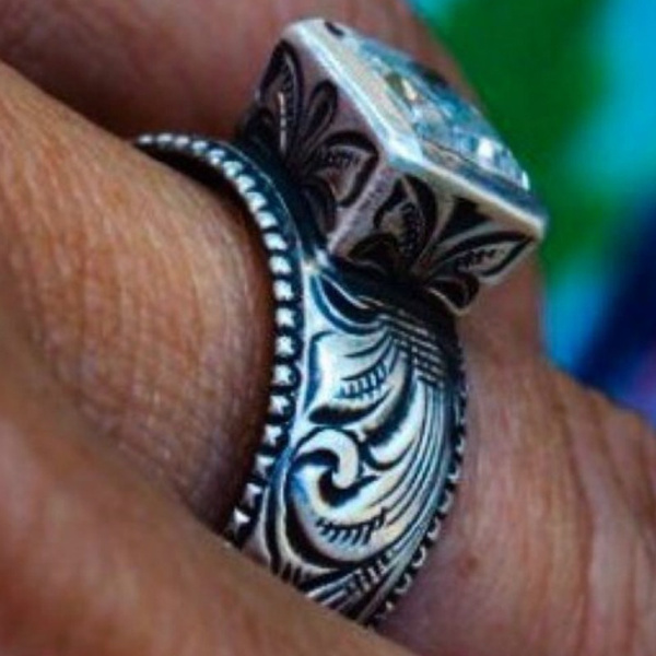 Sterling, wedding ring, Wedding Accessories, Silver Ring