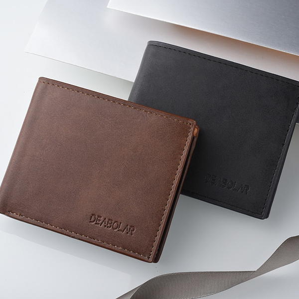 leather wallet, shortwallet, Fashion, Gifts