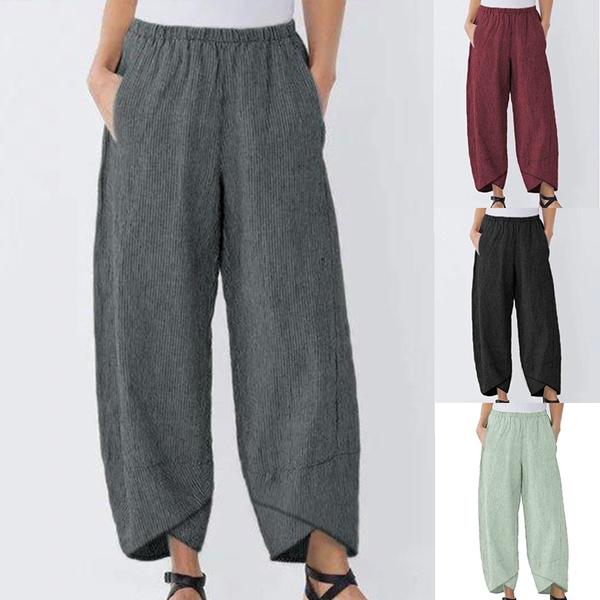 womenstrouser, pantalónancho, Waist, pantsforwomen