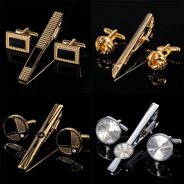 Steel, cufflinks designer, silver tie bar, Stainless
