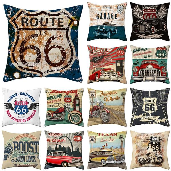 route66, Home Decor, sofacushioncover, Cushion Cover