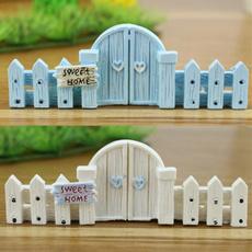 Mini, gardenornamentdecoration, fence, Home & Living