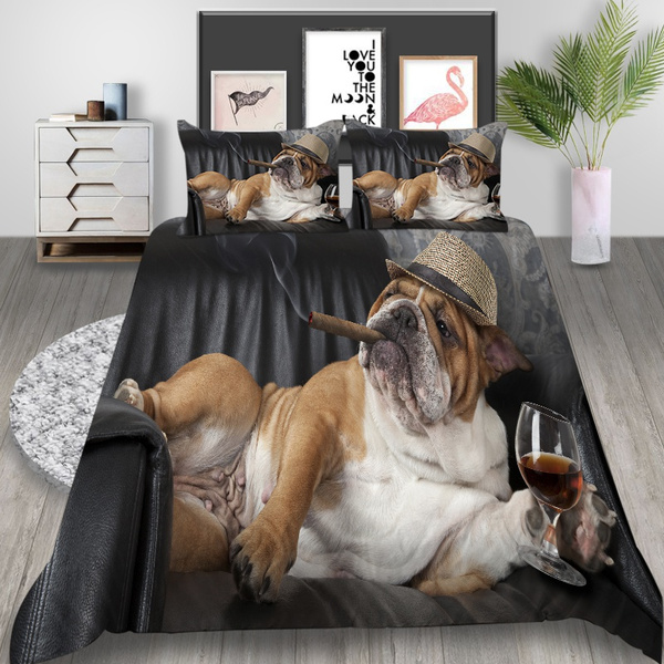 gentlemandog, quiltcover, Dogs, customizable