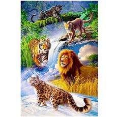 DIAMOND, Home Decor, Cross, Tiger